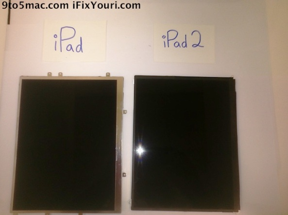 Tela iPad 2, Frente